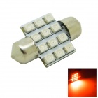 31mm 1,2 W 80lm 12x3528 SMD LED Red Light Car Haube-Girlande Tür-Glühlampe (DC 12V)
