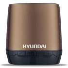 Hyundai i80 Portable USB Rechargeable Bluetooth V3.0 + EDR Stereo Speaker w/ TF Slot - Golden