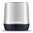Hyundai i80 Portable USB Rechargeable Bluetooth V3.0 + EDR Stereo Speaker w/ TF Slot - Silver