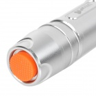 UltraFire 916 5mW 650nm Red Light Aluminum Alloy Laser Pointer Pen - Silvery Grey (1 x 16340)