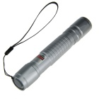 UltraFire 618 5mW 532nm Green Light Aluminum Alloy Laser Pointer Pen - Silvery Grey (1 x 18650)