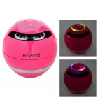 HY HY-BT18 Bluetooth V2.0 Speaker w/ Microphone / TF / Micro USB / Light - Deep Pink