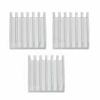 Aluminum Heat Sink for Raspberry Pi - Silver (3pcs)