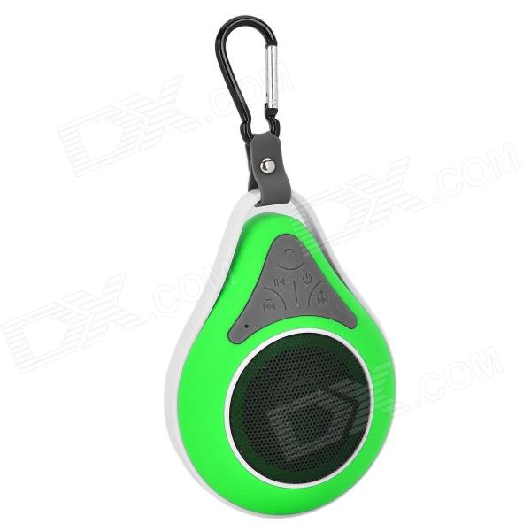 Waterproof Wireless Bluetooth V4.0 Car Speaker w/ Suction Cup - Green + White + Black portable rechargeable 2 channel speaker w suction cup black white