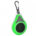 Waterproof Wireless Bluetooth V4.0 Car Speaker w/ Suction Cup - Green + White + Black
