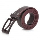 Women's Fashionable PU Pin Buckle Belt - Coffee