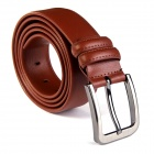 JAMRESVCK Fashion Men's Split Leather Pin Buckle Belt - Brown (110cm)