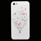 Ultra-thin Embossed Hydrogen Balloon Protective Plastic Back Case for IPHONE 5 / 5S - White + Black