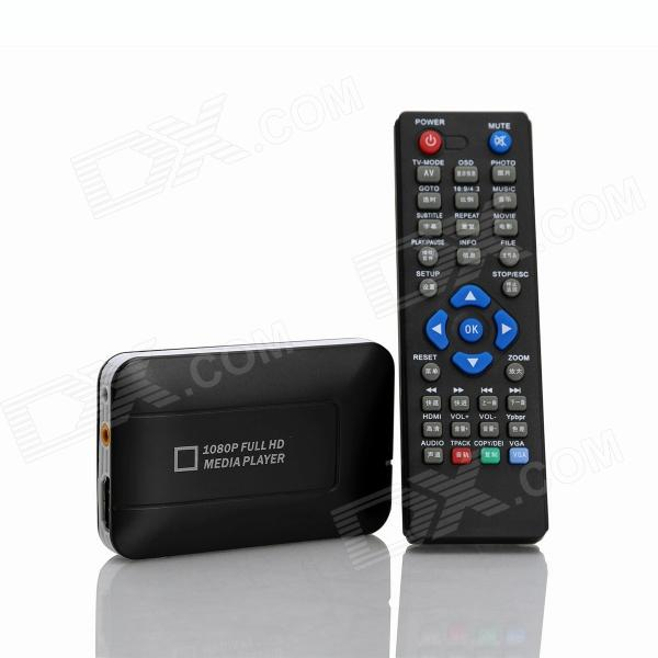 K5 Smart Storage 3D 1080P Full HD Media Player w/ SD / MS / USB - Black