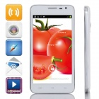 "G3 Dual-Core Android 4.2.2 WCDMA Bar Phone w/ 5.0"" IPS, 4GB ROM, Wi-Fi, GPS - White + Silver"