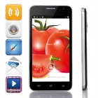 "G3 Dual-Core Android 4.2.2 WCDMA Bar Phone w/ 5.0"" IPS, 4GB ROM, Wi-Fi, GPS - Black + Silver"