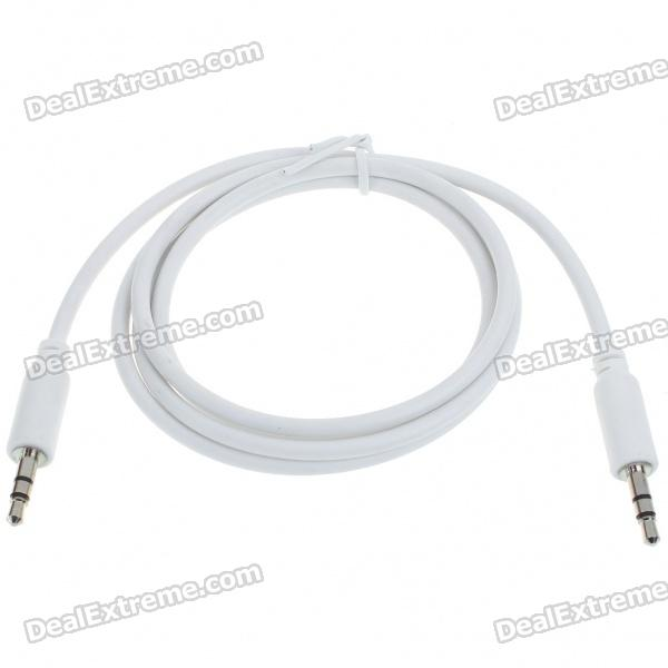 High Quality 3.5mm M-M Audio Jack Connection Cable - White (1M-Length)