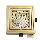 Wood Education Bead Rolling Maze Puzzle Game - Light Yellow + Black