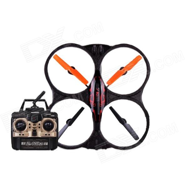 X39 2.4GHz High Performance Rugged Remote Control Aircraft w/ Gyro - Black + Orange (6 x AA)
