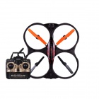 X39 2,4 GHz High Performance Rugged Fernbedienung Flugzeug w / Gyro - Schwarz + Orange (6 x AA)