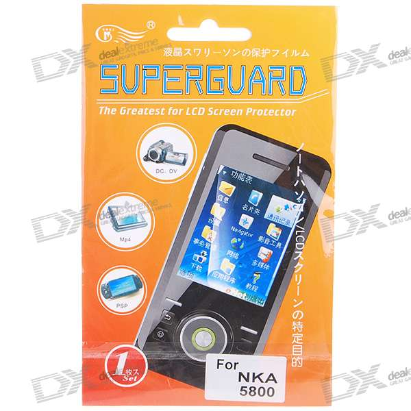 LCD Screen Protector with Cleaning Cloth for Nokia 5800