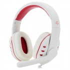 MS-M102 3.5mm Wired Gaming Headband Style Headset w/ Microphone - White (Cable-160cm)