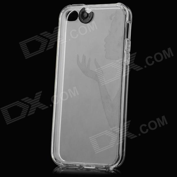 Funda protectora LED de luz de flash de silicona para el IPHONE 5 / 5S - blanco traslúcido