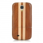 Protective Wooden Back Case Cover for Samsung Galaxy S4 - Brown + Yellow