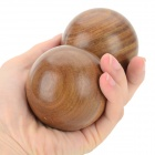 BJQ-001 60mm Palo Santo Mano de masaje Bolas - Brown (2 PCS)
