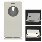 Protective PU Leather Full Body Case for ASUS ZenFone 6 w/ Auto Sleep - White