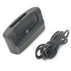 2-in-1 Battery / Cell Phone Charger Stand w/ USB / Micro USB / OTG Port for LG G3 - Black