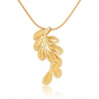 KCCHSTAR Copper + Gold Plated Phoenix Tail Style Pendant Necklace - Golden