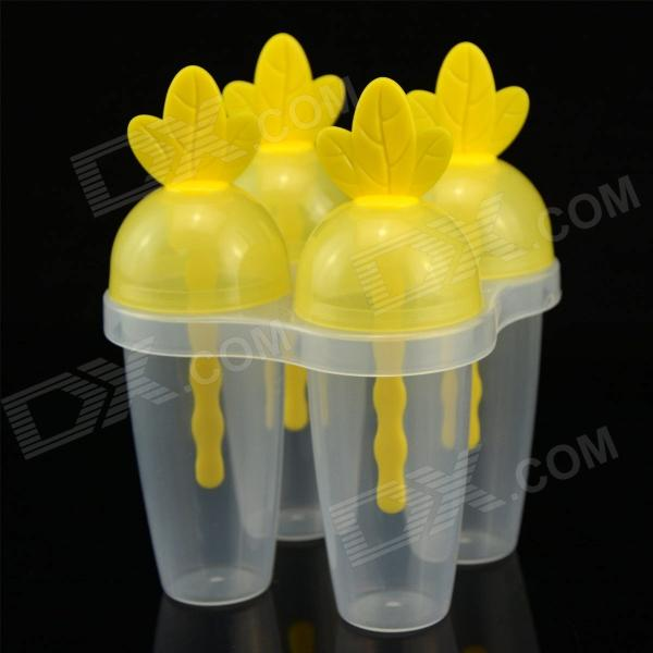 SMKJ YH5867 DIY Carrot Style Popsicle / Ice Cream Mold - Yellow + Translucent White