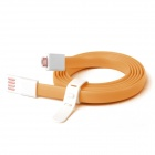 Fonemax X-CABLE Gold-plated Micro USB Date Flat Cable for Samsung  / HTC / Sony - Orange (120cm)