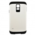 Protective Armor TPU + PC Back Case for Samsung Galaxy S5 - Black + White