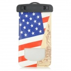 American Flag Patterned Universal Protective Waterproof Bag Pouch for IPHONE / IPOD - White + Red