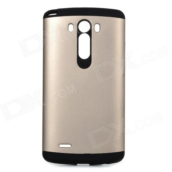 Fashionable Armor Style Protective PC + Silicone Back Case for LG G3 - Gold + Black koh i noor маркер для доски цвет красный