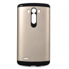 Fashionable Armor Style Protective PC + Silicone Back Case for LG G3 - Gold + Black