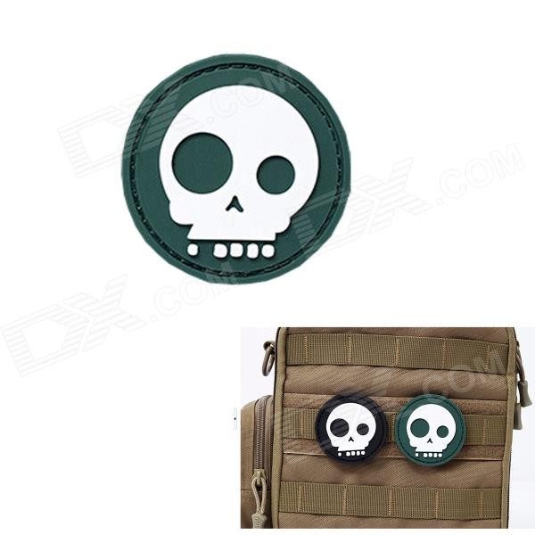 MK Round Skull Tactical Backpack Velcro Armband - Green