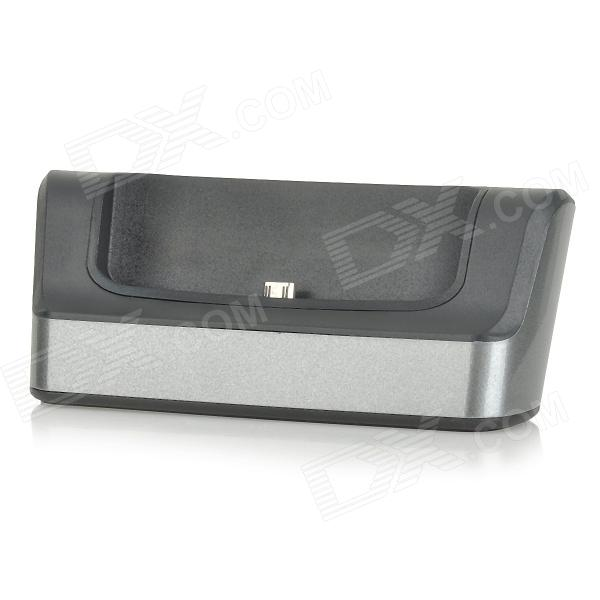 цены 2-in-1 Battery / Cell Phone Charger Stand w/ USB / Micro USB / OTG Port for LG G3 - Black + Grey
