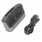 2-in-1 Battery / Cell Phone Charger Stand w/ USB / Micro USB / OTG Port for LG G3 - Black + Grey