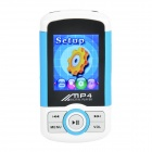 "1.8"" TFT Multimedia MP4 Player w/ TF / FM - White + Blue + Black (4GB)"