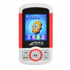 "1.8"" TFT Multimedia MP4 Player w/ TF / FM - White + Red + Black (4GB)"
