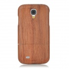 Protective Sapele Back Case Cover for Samsung Galaxy S4 - Brownish Red