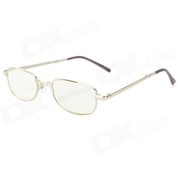 Foldable Anti-fatigue +300 Degree Resin Lens Presbyopia / Reading Glasses - Golden + Brown