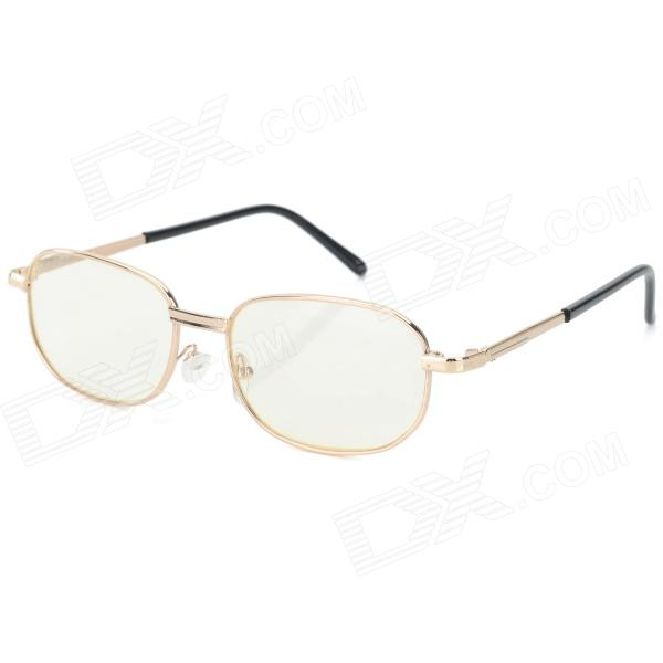 Anti-fatigue +300 Degree Resin Lens Presbyopia / Reading Glasses - Golden + Black anti fatigue 300 degree resin lens presbyopia reading glasses golden black