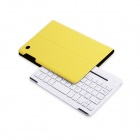 B.O.W Detachable Bluetooth V3.0 Keyboard w/ PU Leather Case for IPAD MINI 1 / 2 - Yellow + White