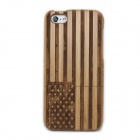USA Flag Pattern Detachable Protective Wood Back Case for IPHONE 5C