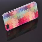 Fashion Design Basso-Relievo Colorful Jigsaw Protective Back Case for IPHONE 5 / 5S