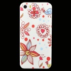 Ultra-thin Embossed Flowers Pattern Protective Plastic Back Cover Case for IPHONE 5 / 5S