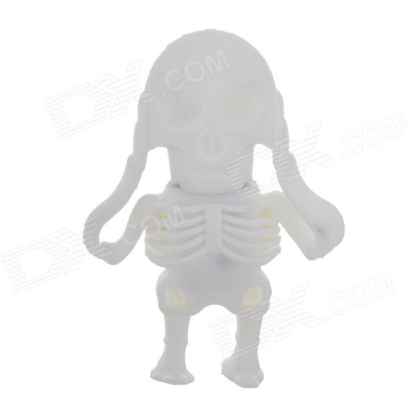 KL-23 Skull Skeleton Style USB 2.0 Flash Drive - White (16GB)