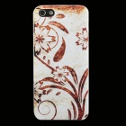 Embossed Retro Flowers Pattern Plastic Back Cover Case for IPHONE 5 / 5S - Light Brown