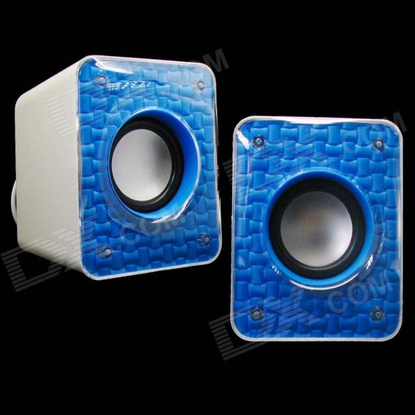 NINTAUS Y-033 muoti kannettava USB Powered 3.5mm Langalliset Desktop Speaker Set-Blue + musta