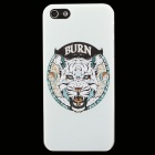 Ultra-thin Embossed Tiger Pattern Protective Plastic Back Cover Case for IPHONE 5 / 5S