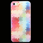 Ultra-thin Embossed Jigsaw Pattern Protective Plastic Back Cover Case for IPHONE 5 / 5S